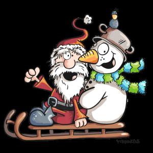 Christmas Schlittenfahrt - Weihnachtsmann - Comic