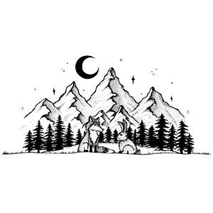 Fuchs Hase Gute Nacht Kinder Bild Geschenk