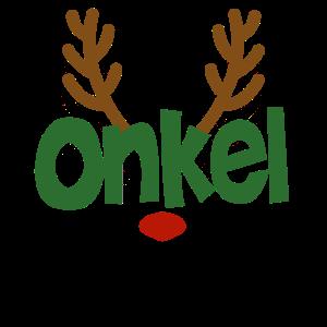Onkel Pate Rentier Familien Outfit Weihnachten Reh