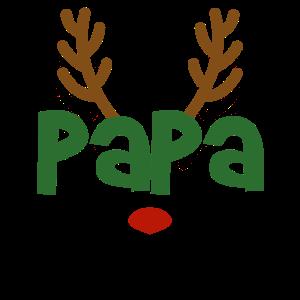 Papa Vater Rentier Familien Outfit Weihnachten Reh