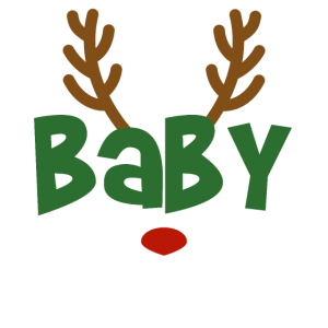 Baby Rentier Familien Outfit Weihnachten Reh