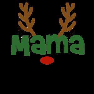 Mama Mutti Rentier Familien Outfit Weihnachten Reh