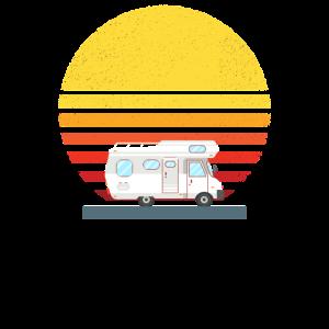 Wohnmobil Sonnenuntergang Urlaub