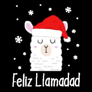 Feliz Navidad Lama Weihnachten
