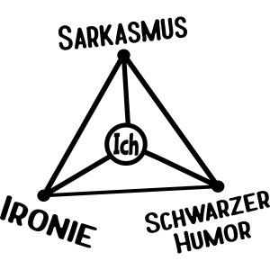 Ironie Sarkasmus Schwarzer Humor Nerd Dreieck