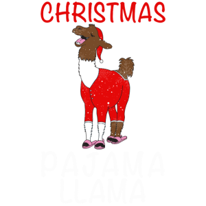 Weihnachten Pyjama Lama