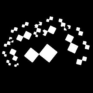 Pythagoras Baum schwarz weiss