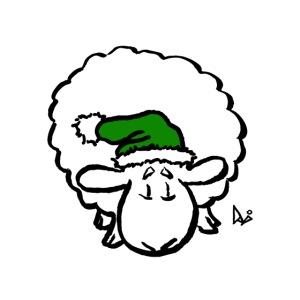 Weihnachtsschaf (grün)