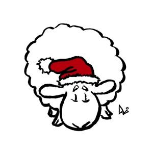 Santa Sheep (red)