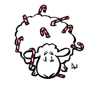 Bonbons canne moutons