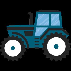 Blauer Traktor 1