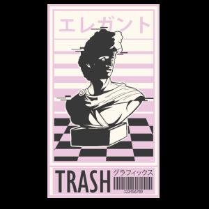 Vaporwave trash japanisches Vaporwave Design Büste