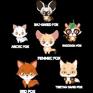 Fuchs, Füchse der Welt, Lern Design, Roter Fuchs