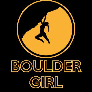 Boulder Girl Klettern Bouldern