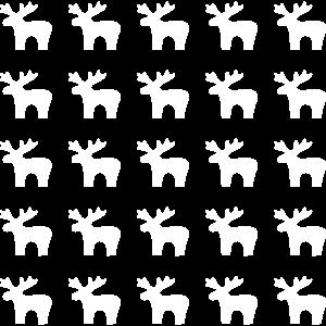 25 Elche I Elch Rentier Weihnachten Muster