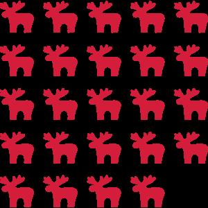 Elch Elche Muster I Weihnachten