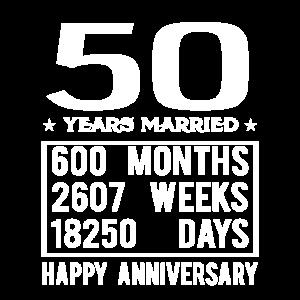 50 Years Married - Happy Wedding Anniversary