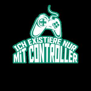 Gaming Merch Lustig Wear Controller Sprüche Outfit