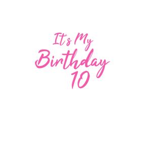It's My Birthday Mädchen 10 Girls Bday Outfit Gift