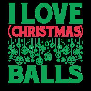 Ich liebe Weihnachtskugeln
