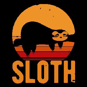 Retro Sloth Faultier Geschenk