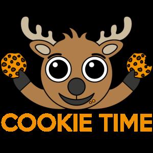 Rentier Hirsch mit Cookies
