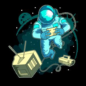 Astronaut Videospieler Gamer Geschenk