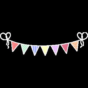 Wimpel Fahnen Girlande Party Dekoration Geburtstag