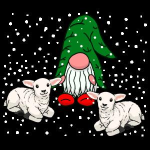 Wichtel Nikolaus Weihnachten Schnee Schafe Zwerg