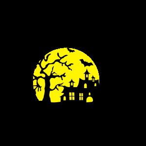 Halloween - Landschaft mit Schloss