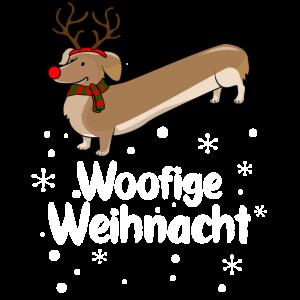 Christmas Dackel Motiv Woofige Weihnachten