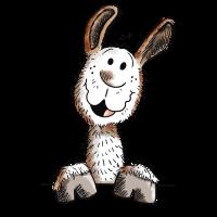 Lustiges Lama - Alpaka - Comic - Tier - lustig