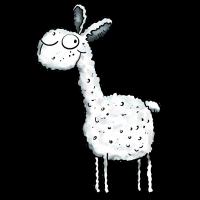 Wolliges Lama - Alpaka - Tiere - Comic