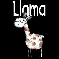 Geflecktes Llama - Lama - Alpaka - Comic