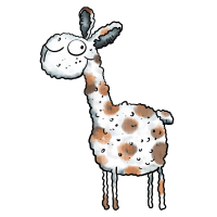 Niedliches Lama - Alpaka - Tier - Comic - Fun