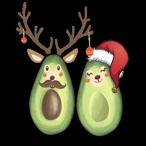 Vegane Weihnachten Avocado Christmas