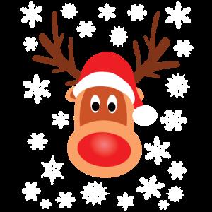 Rudolf Rentier Rote Nase Weihnachten Xmas