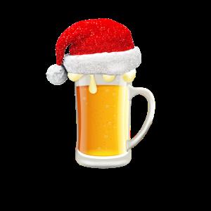 Bier Weihnachtsmuetze Weihnachten
