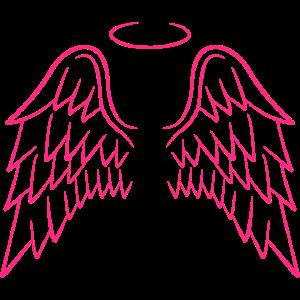 Engelsflügel in rosa