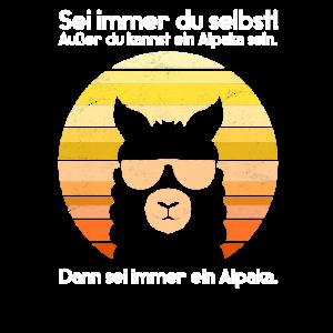 Retro Alpaka Sonnebrille Lustiger Spruch