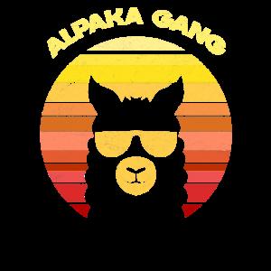Retro Alpaka Sonnebrille Alpaka Gang