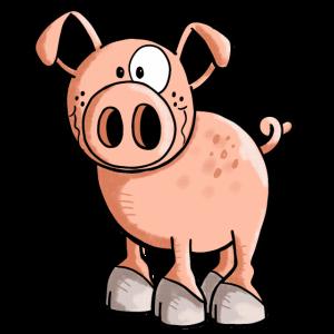 Rosa Ferkel - Schwein - Sau - Schweinchen - Comic