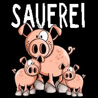 Sauerei - Schwein - Schweine - Tiere - Comic