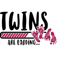 Twins are loading - Zwillinge-Schwangerschaft-Baby