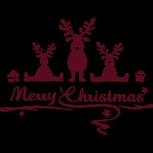 Weihnachten - Elche Merry Christmas