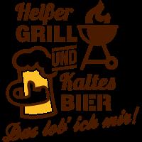 Heißer Grill, kaltes Bier