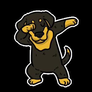 Dabbing Dachshund Dackel Hund