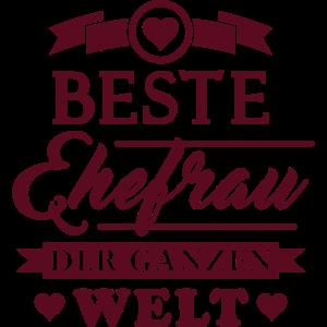 Beste Ehefrau (Schriftzug)