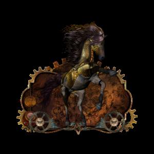 Steampunk Wildpferd