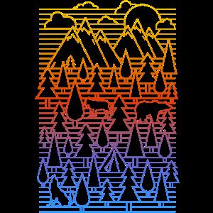 Landschaft (Linien) 01
